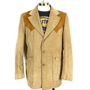 Vintage Cowboy Suede Cordoroy Blazer Sport Coat
